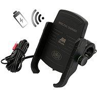 M-STYLE EW Držiak na telefón s bezdrôtovým nabíjaním - Držiak na mobil na motorku