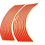 M-Style Reflexné celé prúžky na kolesá motocykla – Farba: Červená - Prúžky na ráfiky