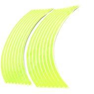 M-Style Reflexné celé prúžky na kolesá motocykla – Farba: Fosforovo zelená - Prúžky na ráfiky