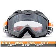ARIETE ADRENALINE PRIMIS PLUS sivo-oranžové off-road moto okuliare - Okuliare