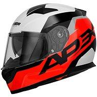CASSIDA Apex Contrast (červená fluorescenčná/čierna/biela/sivá) - Prilba na motorku