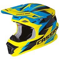 CASSIDA Cross Pro (modrá/žltá fluo/čierna) - Prilba na motorku