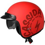 CASSIDA Oxygen Gear (červená matná/čierna) - Prilba na skúter