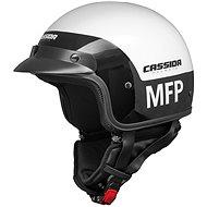 CASSIDA Police MFP (čierna/biela) - Prilba na skúter