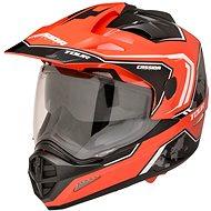 CASSIDA Tour Globe (čierna/červená neón/biela) - Prilba na motorku