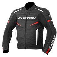 AYRTON Raptor, čierna/červená fluorescenčná/biela - Bunda na motorku