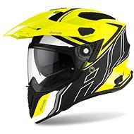 AIROH COMMANDER DUO fluo žltá/čierna/biela matná - Prilba na motorku