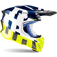 AIROH TWIST 2.0 FRAME modrá/biela/fluo - Prilba na motorku
