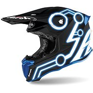 AIROH TWIST NEON čierna/modrá - Prilba na motorku