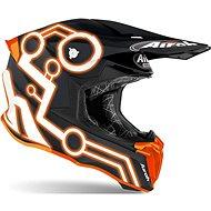 AIROH TWIST NEON čierna/oranžová - Prilba na motorku