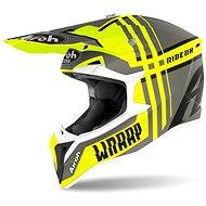 AIROH WRAAP BROKEN žltá/sivá - Prilba na motorku