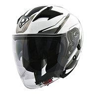 Yohe 878-1M Graphic, White - Prilba na motorku