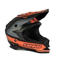 YOKO SCRAMBLE matne čierna/oranžová - Prilba na motorku