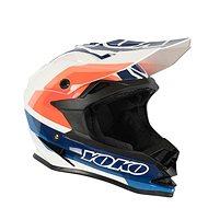 YOKO SCRAMBLE biela/modrá/oranžová - Prilba na motorku