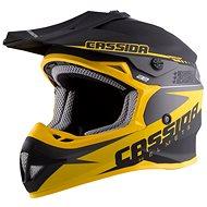 CASSIDA LIBOR PODMOL limitovaná edícia, (detská čierna matná/žltá/sivá) - Prilba na motorku