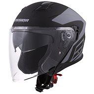 CASSIDA Jet Tech, (čierna matná/sivá logá) - Prilba na motorku