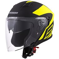 CASSIDA Jet Tech Corso, (čierna matná/žltá fluo) - Prilba na motorku