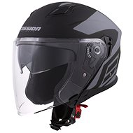 CASSIDA Jet Tech Corso, (čierna matná/sivá) - Prilba na motorku