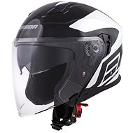 CASSIDA Jet Tech Corso, (čierna/biela) - Prilba na motorku