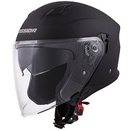 CASSIDA Jet Tech, (čierna matná/fialová logá) - Prilba na motorku