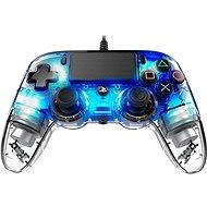 Nacon Wired Compact Controller PS4 – priehľadný modrý - Gamepad