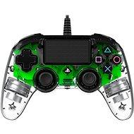 Nacon Wired Compact Controller PS4 – priehľadný zelený - Gamepad