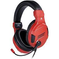BigBen PS4 Stereo-Headset v3 – červené - Herné slúchadlá