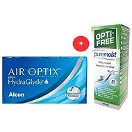 Air Optix Plus Hydraglyde (6 šošoviek) + OPTI-FREE PureMoist 300 ml