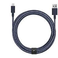 Native Union Belt Cable XL Lightning 3 m, indigo - Dátový kábel