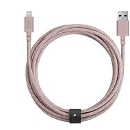 Native Union Belt Cable XL Lightning 3 m, rose - Dátový kábel