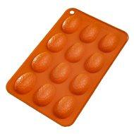 Forma silikón VAJÍČKA 12 oranžová - Forma na pečenie