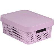 Úložný box Curver INFINITY DOTS box 11 l, ružový