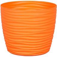 Obal na květník SAHARA PRIMULE plastový oranžový d11x9cm - Príslušenstvo