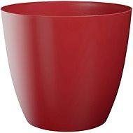 Obal na květník ELLA plastový červený lesklý d11x10cm - Príslušenstvo