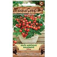 Rajčiak kríčkový balkónový VILMA, červený - Semená