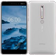 Nokia 6.1 Silver White Dual SIM - Mobilný telefón