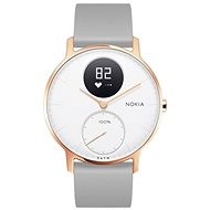Nokia Steel HR (36 mm) Rose Gold/Grey Silicone wristband - Smart hodinky