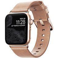 Nomad Leather Strap Modern Natural Gold Apple Watch 40/38 mm - Remienok