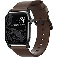 Nomad Leather Strap Modern Brown Black Hardware Apple Watch 40/38 mm - Remienok
