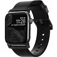 Nomad Leather Strap Black Apple Watch 44/42 mm - Remienok