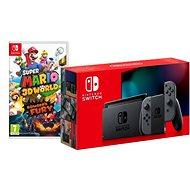 Nintendo Switch - Grey Joy-Con + Super Mario 3D World - Game Console