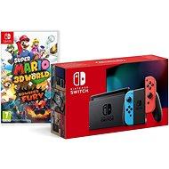 Nintendo Switch – Neon Red & Blue Joy-Con + Super Mario 3D World