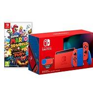 Nintendo Switch Mario Red & Blue Edition + Super Mario 3D World - Game Console