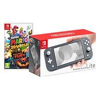 Nintendo Switch Lite - Grey + Super Mario 3D World - Game Console