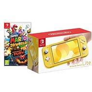 Nintendo Switch Lite - Yellow + Super Mario 3D World - Game Console