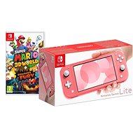Nintendo Switch Lite - Coral + Super Mario 3D World - Game Console