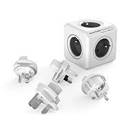 PowerCube Rewirable + Travel Plugs sivá - Napájací adaptér