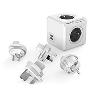 PowerCube Rewirable USB + Travel Plugs sivá - Zásuvka