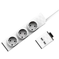 Allocacoc Set PowerStrip Modular Switch 1,5 m + USB modul - Zásuvka