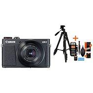 Canon PowerShot G9 X Mark II čierny + Rollei Foto Starter Kit 2 - Digitálny fotoaparát